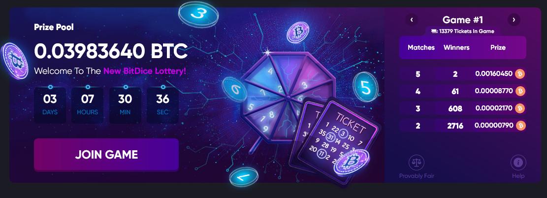 Bitdice lottery
